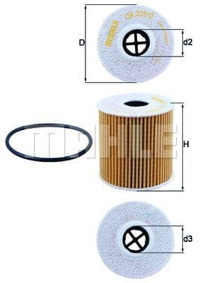11427622446 Mahle Oil Filter OX339/2D